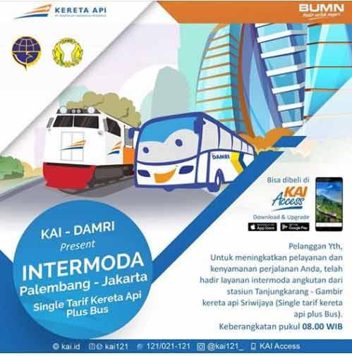 Harga Tiket Kereta Palembang Jakarta