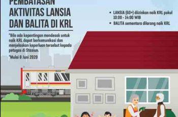 Pembatasan Penumpang Lansia dan Balita di KRL